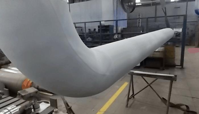 peca industrial com thermal spray aluminium