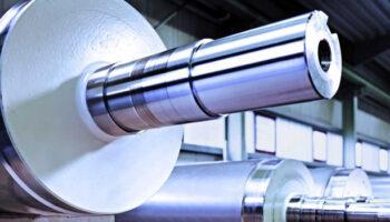 exemplo de rolos industriais operando